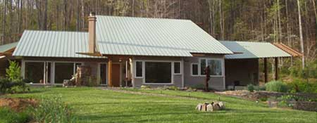 Sustainable, passive solar home and cooking school